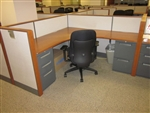 Teknion Cherry Wood Trim Workstations