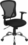 NEW Mid-Back Mesh Office Chair with Tilt and Chrome Finished Base