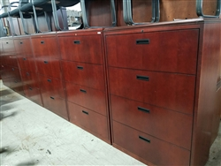 Wood 4 Drawer Lateral File Cabinet