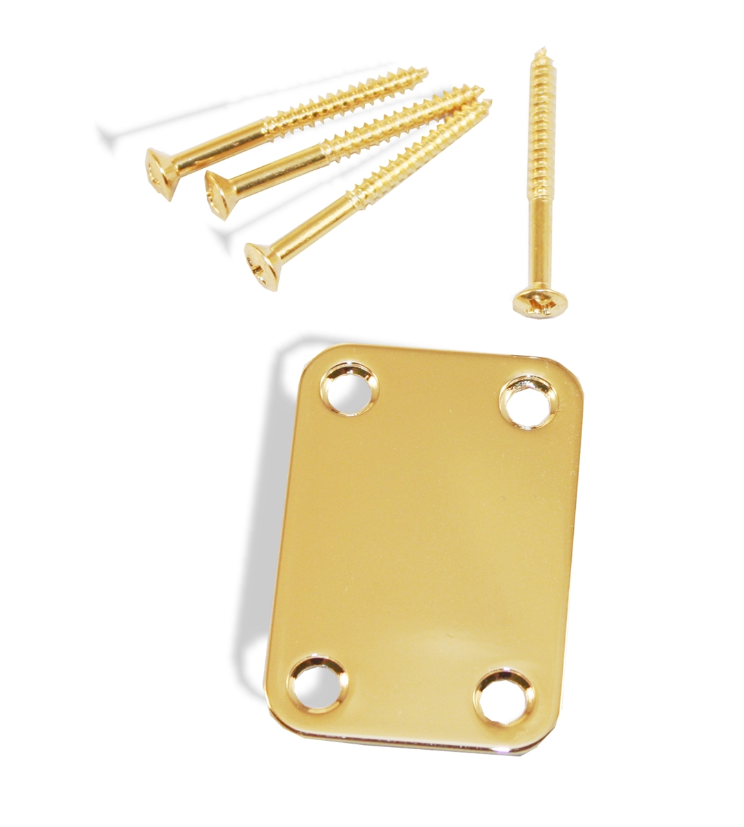 Bass set of 4 Gold Neck Plate Mounting Screws for Guitar