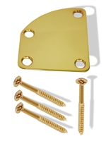 Neck plate curved gold