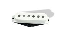 Single pickup hot bridge in white, single coil stack low noise
