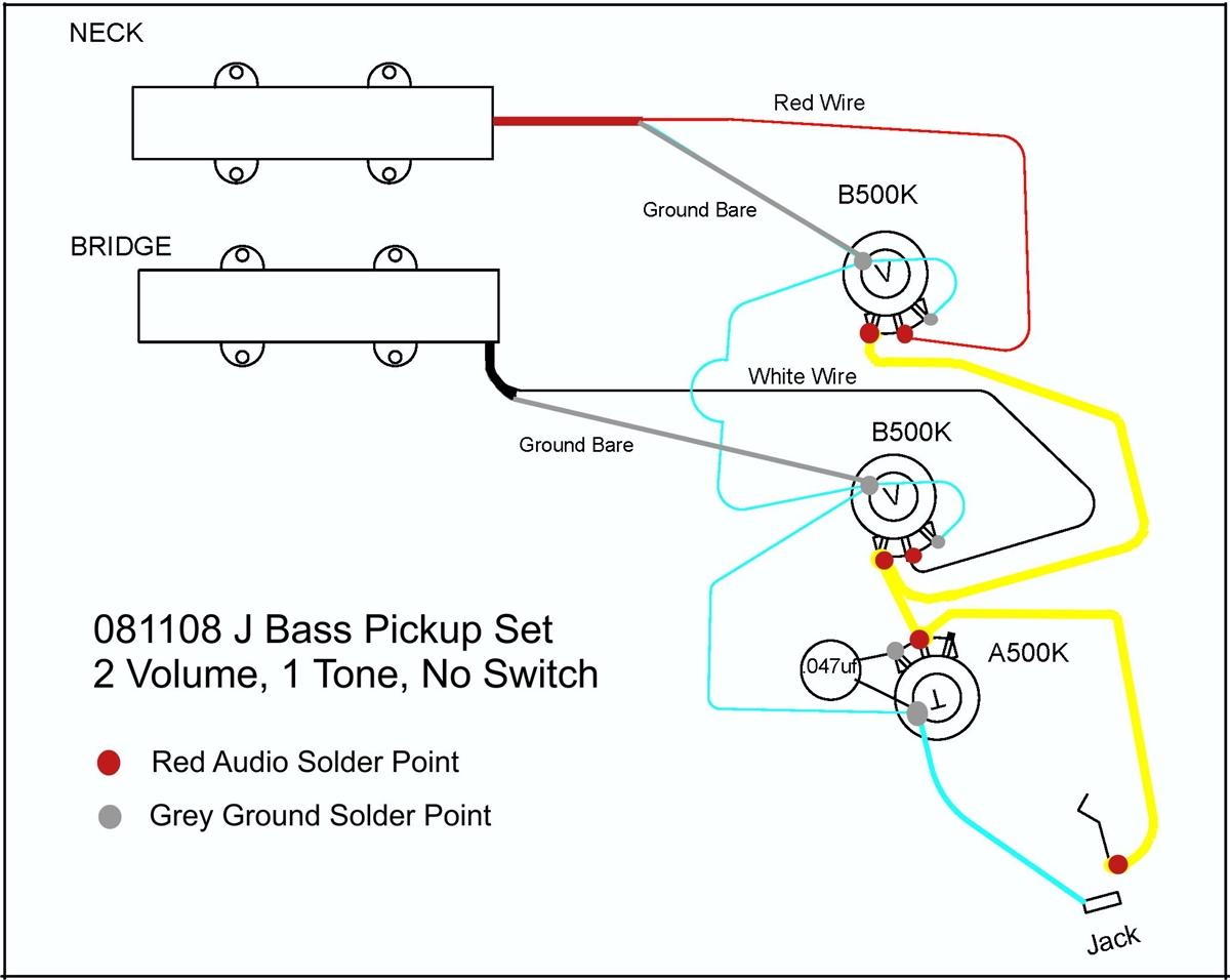 J Bass Pickup Set Wiring Diagram 2 Volume 1 Tone List Price 6999