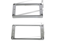 Trim Ring Arch Humbucker Chrome set