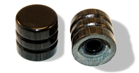Knob push on 6mm Ebony cap set of 2