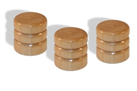 Knob push on 6mm Maple cap set of 3