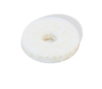 Strap button pad felt white