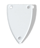 Truss Rod Cover Curved Triangular V Matte White
