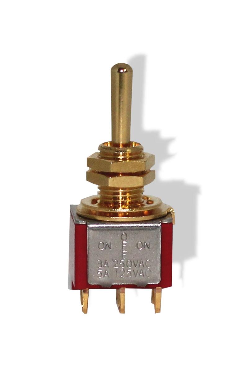 WD Music Telecaster 3 Way Switch Knob Gold