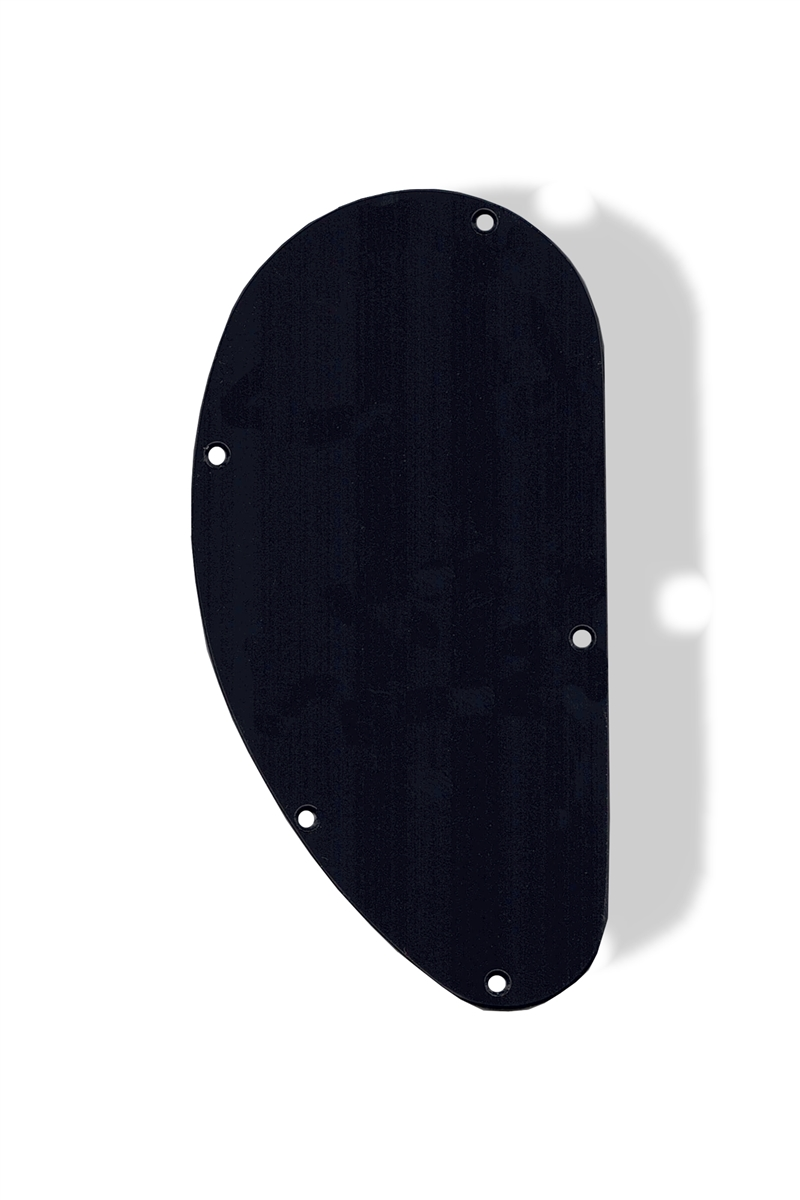 Control Plate Cover Rear Medium Kidney Shape Black