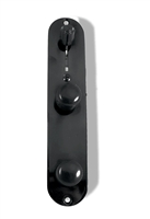 T Style pre wired control plate with harness. 3 Way Volume and Tone Black