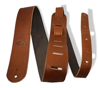 "2"" guitar strap brown leather extra long"