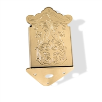 Mandolin tailpiece gold