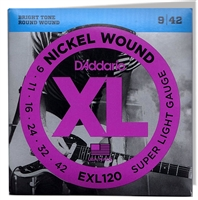 D'Addario. Electric Nickel Wound Super Light Strings