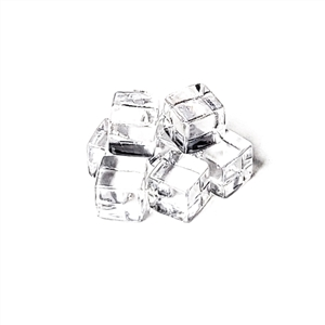 8mm Plastic Cubes: Set of 8