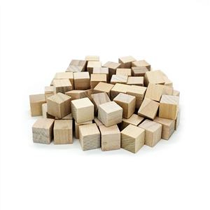 10mm Natural Wooden Cubes