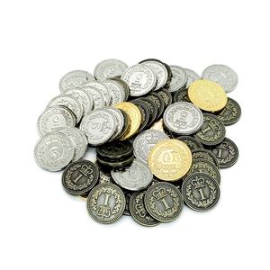 Generic Metal Coins: Set of 110 (Lisboa, Brass)