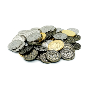 Generic Metal Coins: Set of 55 (Updated Counts)