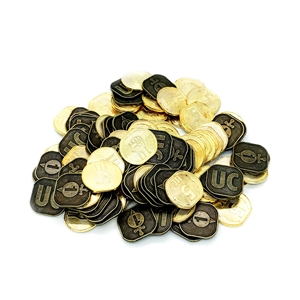 SciFi Metal Coins: Set of 100 (1's & 5's)