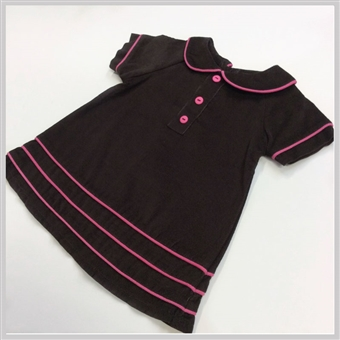 Bella Bliss Corduroy Shift Dress Brown