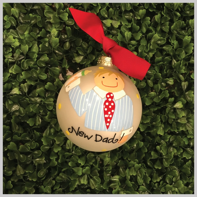christmas ornaments new dad - Dad Christmas Ornament