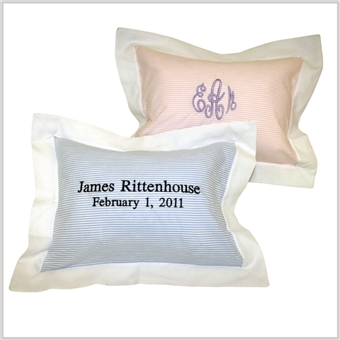 Seersucker Stripe Boudoir Pillows