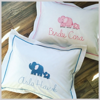 Embroidered Boudoir Pillows
