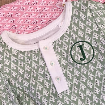 Lila & Hayes Green Tree PJ's