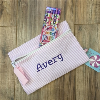 Pink Pencil Case Set