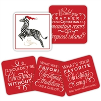 Christmas Conversation Coasters