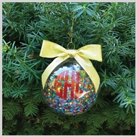 Confetti filled Ornament