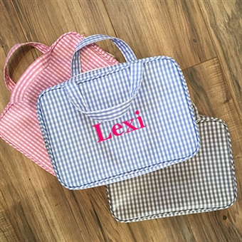 Gingham Carry-On
