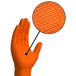 HEAVY DUTY ORANGE NITRILE GLOVES - orange
