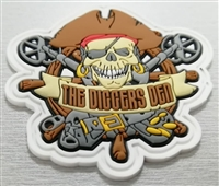 Diggers Den Rugged 3d PVC Velcro Patche
