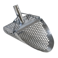 "Dune Hydra 11"" x 8"" Stainless Sand Scoop LG Hex Holes At The Diggers Den"