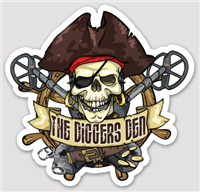 The Diggers Den Weatherproof Vinyl Decal