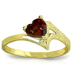 ALARRI 0.9 Carat 14K Solid Gold Ring Natural Garnet