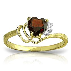 ALARRI 0.97 CTW 14K Solid Gold Ring Natural Diamond Garnet