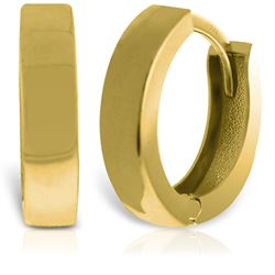 ALARRI 14K Solid Gold Glorietta Huggie Earrings