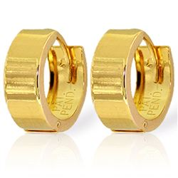 ALARRI 14K Solid Gold Lillian Huggie Earrings