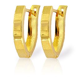 ALARRI 14K Solid Gold Precious Gift Huggie Earrings