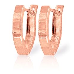 ALARRI 14K Solid Rose Gold Grace Huggie Earrings