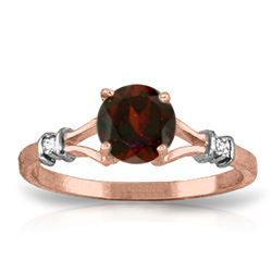 ALARRI 1.07 CTW 14K Solid Rose Gold Cathy Garnet Diamond Ring