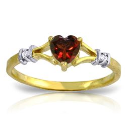 ALARRI 0.47 Carat 14K Solid Gold Rings Natural Diamond Garnet