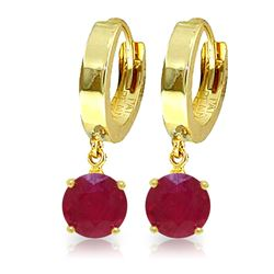 ALARRI 2.5 Carat 14K Solid Gold Frida Ruby Earrings