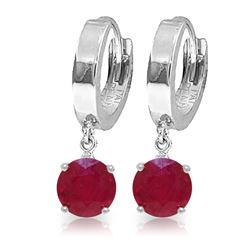 ALARRI 2.5 CTW 14K Solid White Gold Love In Progress Ruby Earrings