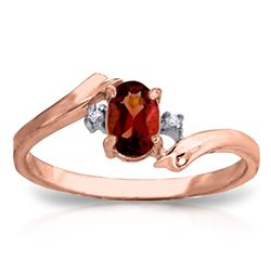 ALARRI 0.46 Carat 14K Solid Rose Gold Mystic Garnet Diamond Ring