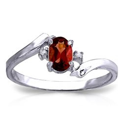 ALARRI 0.46 Carat 14K Solid White Gold I Must Confess Garnet Diamond Ring