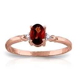ALARRI 0.46 Carat 14K Solid Rose Gold Young Love Garnet Diamond Ring