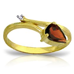 ALARRI 0.83 Carat 14K Solid Gold Sea Of Possibilities Garnet Diamond Ring